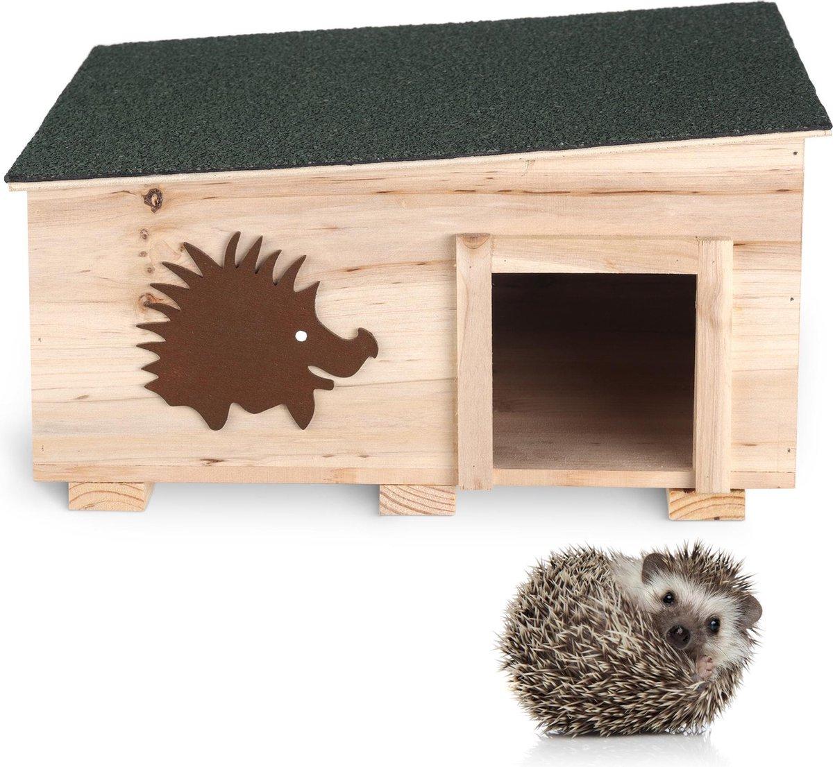 Egelhuis - Houten Egel House - Beschermende Egel Shelter Box voor Outdoor, Garden - Hedgehog Den voo