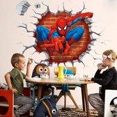 Spiderman muursticker - 3D Spider-Man Marvel muursticker 50x50 cm - Avengers muursticker - Marvel muursticker