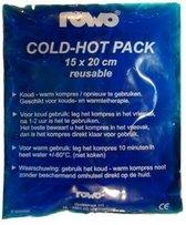 Cold-hot pack Rowo 15 x 20 cm. herbruikbaar, 4 stuks
