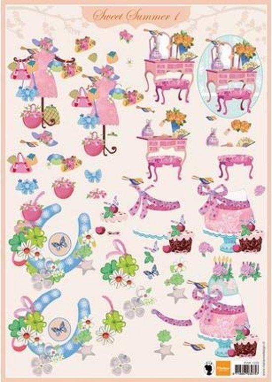 Afbeelding van 1x knipvel A4 Sweet Summer 1 (EWK1203) Marianne Design speelgoed