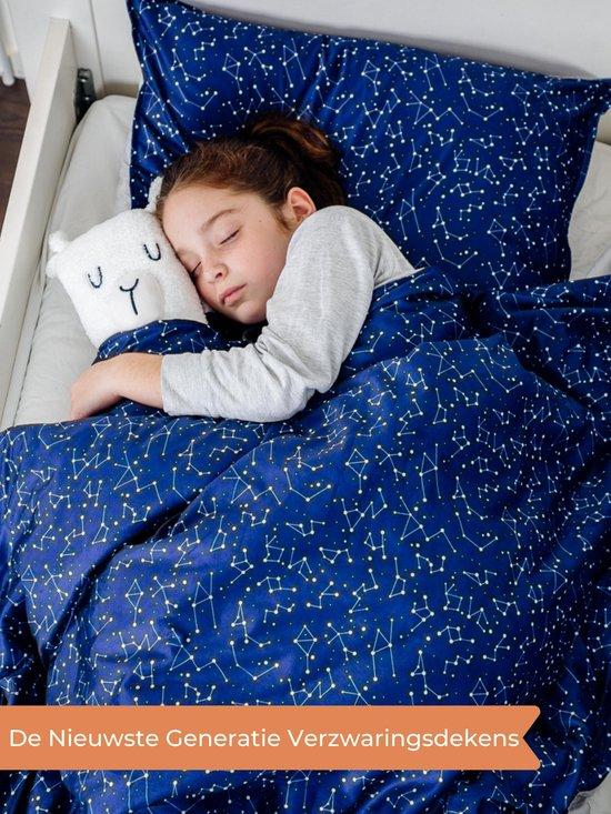 Verzwaringsdeken Kind 3,5KG Weighted Blanket Kinderen - Beter slapen- Oeko Tex Keurmerk - Sterren - 100x150