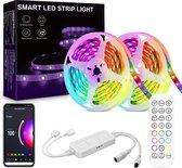 Mogi Products -Smart LED Strip Light 10 Meter (2x5)-iOS en Android Bestuurbaar-Wifi-LED Light -Led Strips- Led Strip 10 Meter-Smart Life App - Stem- en Afstandsbediening-SMD 5050 RGB LED 16 Miljoen Kleuren