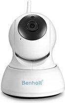 Benholt HD WiFi Babyfoon |  Indoor Beveiligingscamera | 2MP - Praatfunctie - IOS&Android APP