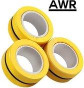 AWR - Magneet ringen - Finger Spinner - Magneet Vinger Spinner - Magnetische ringen - Spinner - Magneet Spinner - Fidget Magnet Spinner – Fidget toy - Geel