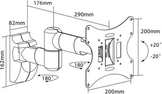 TV beugel   Monitor beugel  Max. gewicht: 30 kg   13 t/m 42 inch  Allteq
