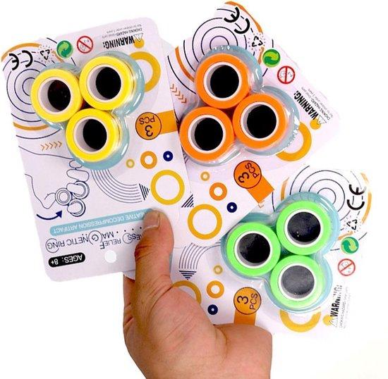 Magnetische Ringen, Fidget Toy - Merkloos