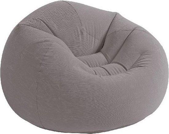 Intex Beanless Bag Chair - Opblaasbare stoel - Grijs