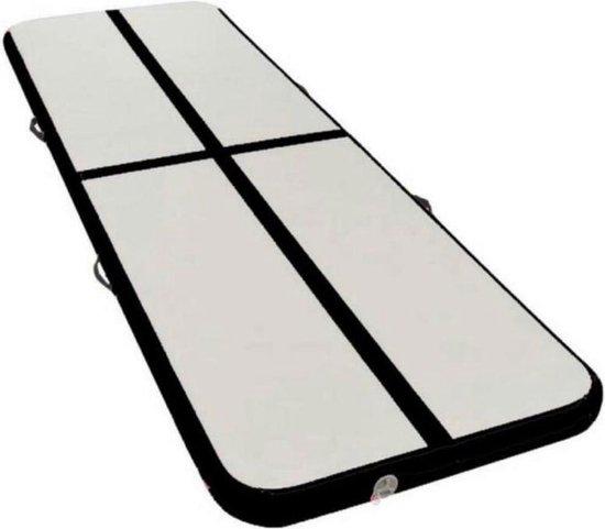 GymPro - Airtrack Turnmat Compleet - 20 cm dik! - 3 meter x 1 meter x 0,2 meter - Incl. toebehoren