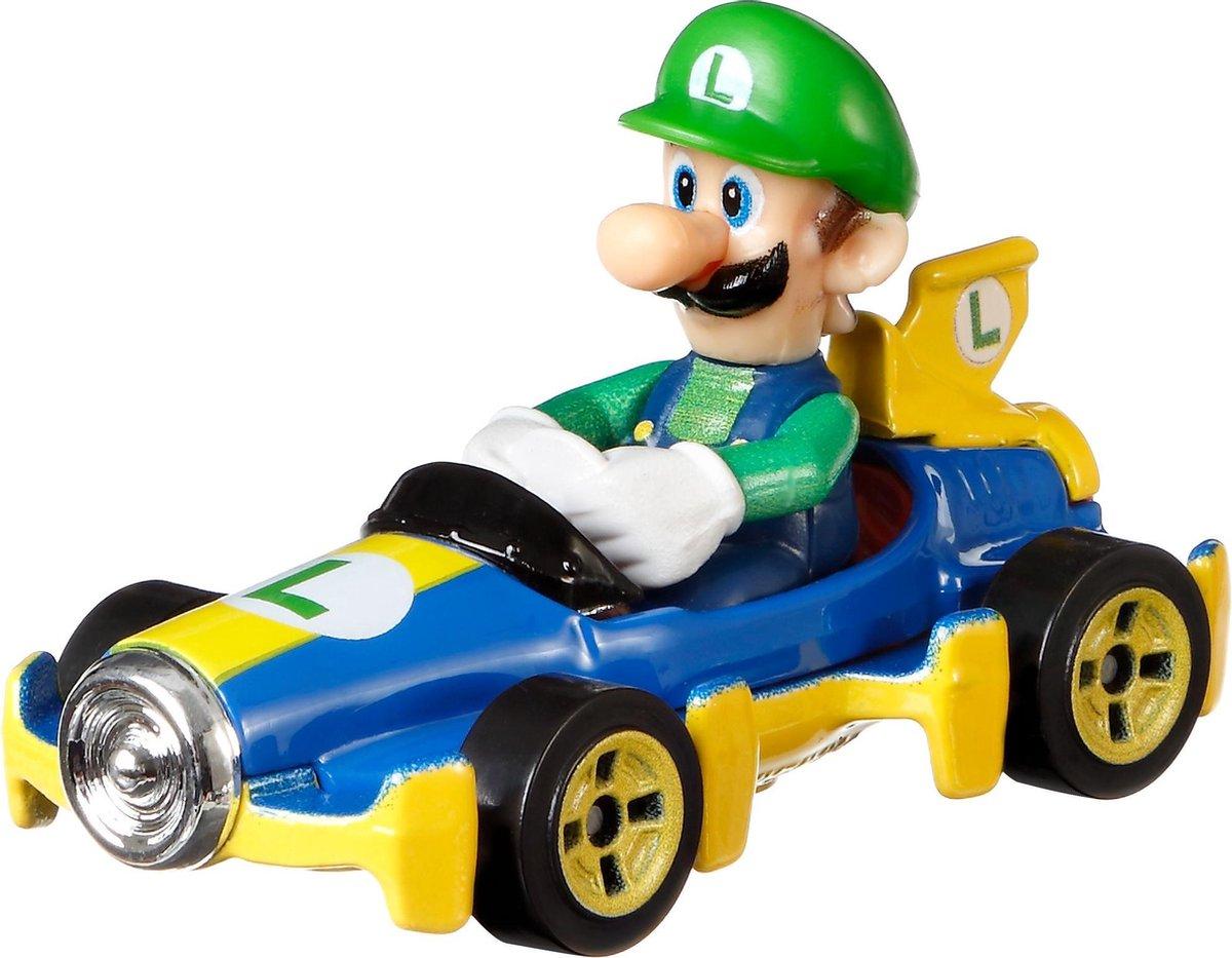 Hot Wheels Mario Kart Replica Diecast Luigi, Mach 8