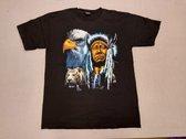 Rock Sport Shirt: Native Amerian / Indiaan Man met adelaar en panter (large)