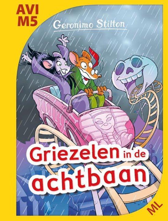 Boek cover AVI-boeken  -   Griezelen in de achtbaan van Geronimo Stilton