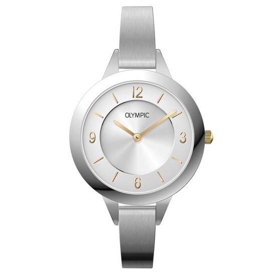 Olympic OL66DSS005B Horloge – Staal – Zilverkleurig – 8mm