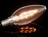 Kaarsvormige LEDlamp, E14 fitting, EXTRAwarmwit, 3,2W