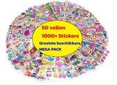 1000 stickers - 50 Stickervellen Voor Kinderen en Peuters - 3D Foam Stickers - Verschillende Sets - Mega Pack met enorm veel variëteit: dieren, auto's, hartjes, sterren, dino's,  enz.