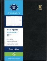 Ryam agenda 2021 Executive wit 6-talig Mundior zwart