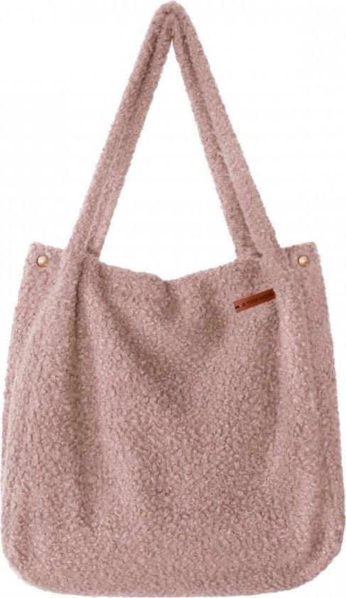 Product: Your Wishes Mommy Tote Bag / Grote Luiertas Roze Meisje / Luiertas Kinderwagen / Verzorgingstas Baby / Boodschappentas - Boucle Oudroze Oudroze, van het merk Your Wishes