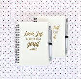 2 Notitieboekjes met pen | Juf bedankje | Juf cadeau | Einde schooljaar