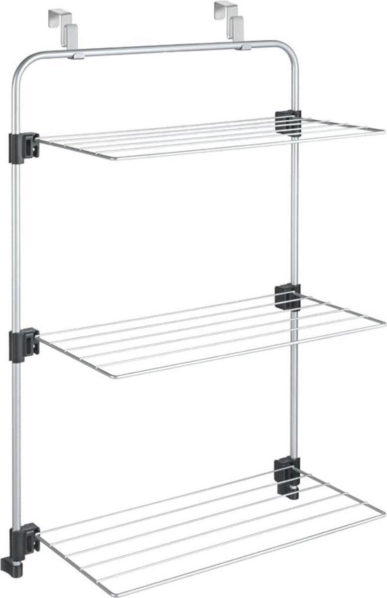 Metaltex Gale Droogrek  - 11m Drooglengte - Ophangbaar aan Deur - Zilvergrijs