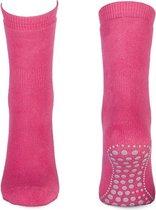 Basset Kinder/dames Homepads sokken 1 paar fuchsia  - 38