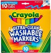 Crayola - Afwasbare Markers voor kinderen - Ultra Clean - Bright - 10 stuks