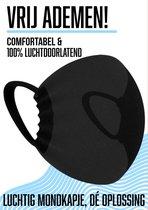 NIEUW ADEMEND Mondkapje wasbaar – Mondmasker niet medisch – Zwart – Brildrager – Herbruikbaar – Doorzichtig – Zacht - Comfortabel - Luchtig - Huidvriendelijk