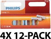 Philips LongLife Batterijen AA - voordeelverpakking - 48 stuks
