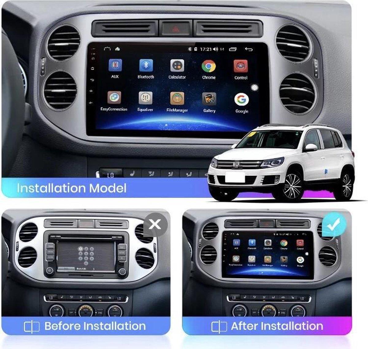 GRATIS CAMERA!!! Volkswagen Tiguan 2007-2015 Android 10 navigatie en multimediasysteem Bluetooth USB WiFi 1+16GB
