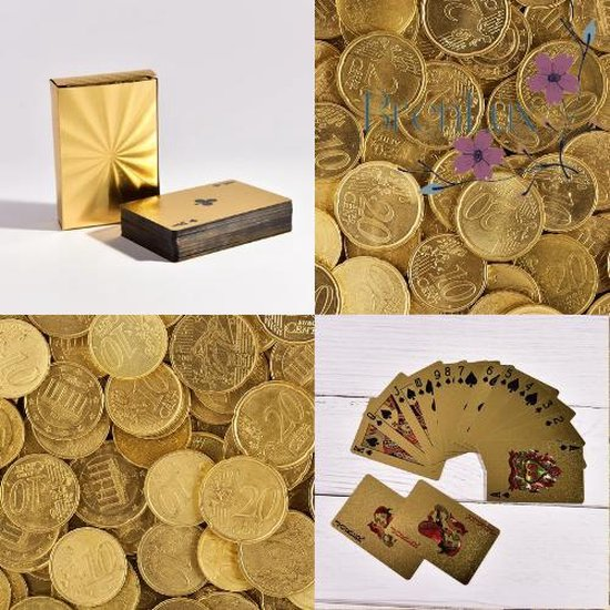 Afbeelding van het spel ✿ Brenlux - Speelkaarten - Kaartspel - Waterproof kaarten - Gouden kaarten - Poker kaarten - Speelkaarten waterdicht - Potje kaarten