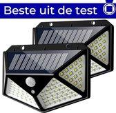 Buitenlamp met sensor op zonne energie 2 stuks |Buitenverlichting met dag nacht sensor | Solar wandlamp buiten van ZEDAR