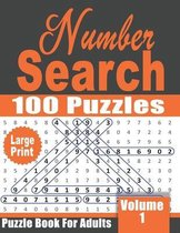 Large Print Number Search Book for Adults