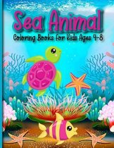 Sea Animal Coloring Books For Kids Ages 4-8