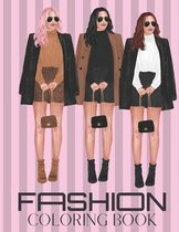 Fashion Coloring Book: For Girls and teens