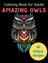 Coloring Book for Adults Amazing Owls