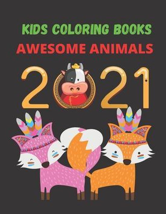 Kids Coloring Books Awesome Animals