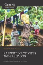 Rapport d'activites 20016 ASEP ONG
