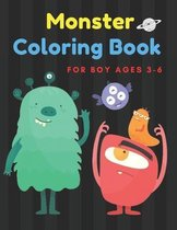 Monster Coloring Book for Boy Ages 3-6