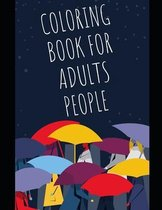 coloring book for adults people