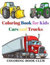 Coloring Book for Kids Cars and Trucks