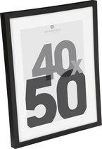 Fotolijst Zwart Glas - 40 X 50 CM - Wissellijst met passe partout - Glazen Posterlijst