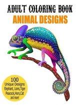 Adult Coloring Book Animal Designs