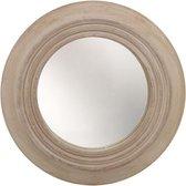 Wandspiegel in Houten Lijst | Houten Spiegel | Tuinspiegel | Buitenspiegel | Glazen Spiegel | Ronde Spiegel | 25 cm | Muurdecoratie | Wanddecoratie - Hout