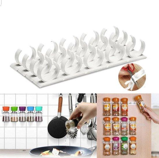 Kruiden organizer 4X | 20 kruidenpotjes| Kruidenrekje | Opbergen | Kruidenrek ophangbaar | Kruidenrek voor kruidenpotjes | Spices Storage | Kruiden Ophangen | Kruidenrek | Keukenrek | Kruiden opbergen | Specerijen rek |