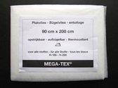 mega-tex plakvlies vlieseline wit - opstrijkbaar - 90 x 200 cm - H-180/H-200 vliseline