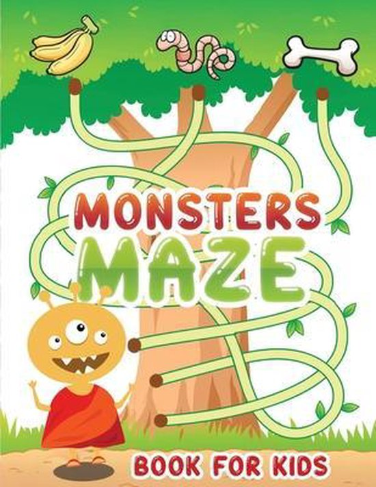 monsters maze book for kids