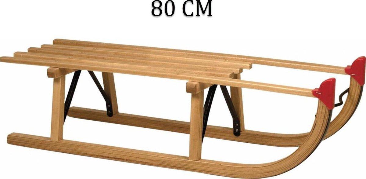 SLEE - houten slee - 80 CM - sleeen
