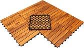 Terrastegels acaciahout - set van 9 - 30x30 - tuintegels