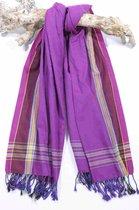 Kikoy Handdoek Mandera Purple - Dun Strandlaken - Saunadoek - Saunalaken - Omslagdoek - Stranddoek - Reishanddoek - Plaid - 170x95cm
