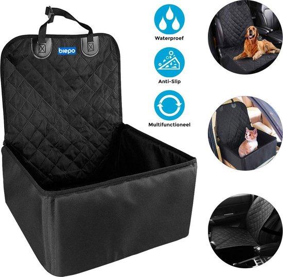 Autostoel Hond of Kat Multifunctioneel - 45 cm x 45 cm - Waterproef - Autotas - Stoelbeschermer - Stoelhoes - Automand - Autozitje - Beschermhoes - Hondenmand - Transportkooi - Autobench