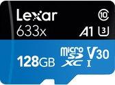 Lexar High Performance 633x microSDXC 128GB - met adapter