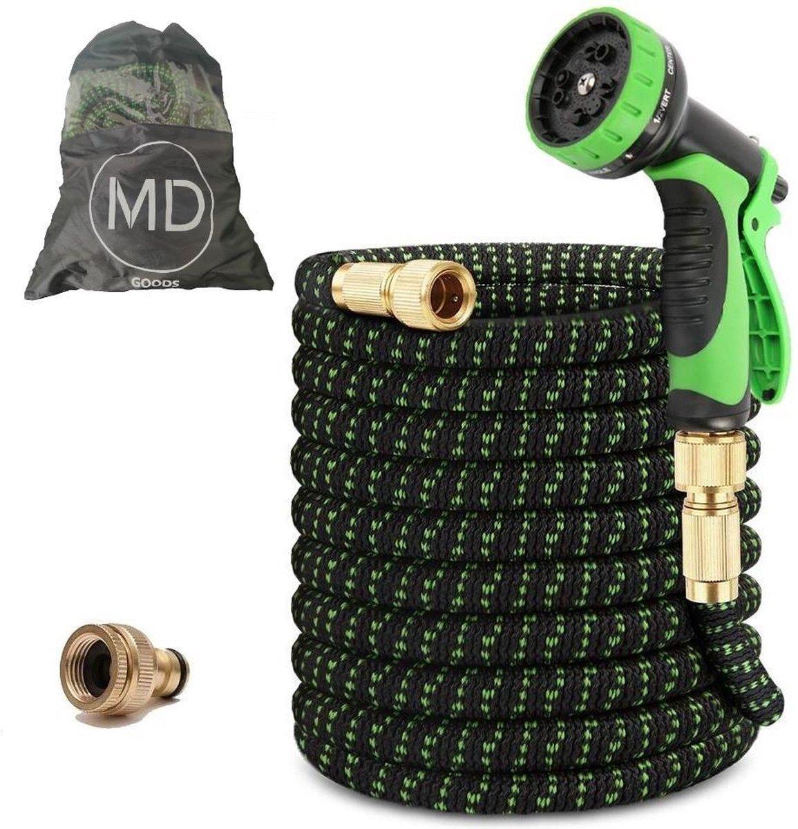 MD-Goods ® Super Sterk Uitrekbare Tuinslang tot 30 Meter + GRATIS tas en koppelstuk - Tuinsproeier -